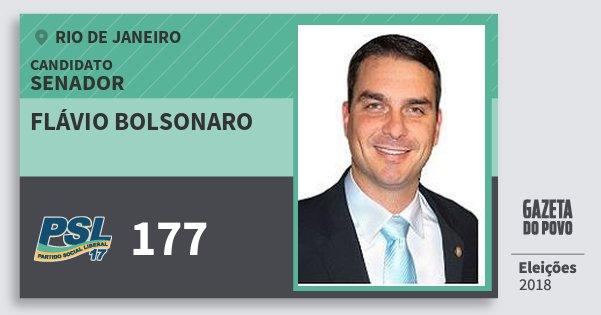 Santinho Flávio Bolsonaro 177 (PSL) Senador | Rio de Janeiro | Eleições 2018