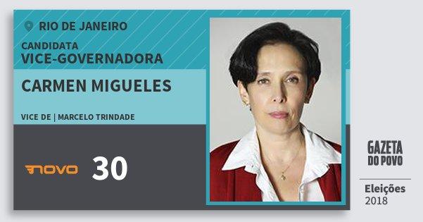 Santinho Carmen Migueles 30 (NOVO) Vice-Governadora | Rio de Janeiro | Eleições 2018