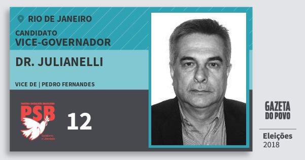 Santinho Dr. Julianelli 12 (PSB) Vice-governador   Rio de Janeiro   Eleições 2018