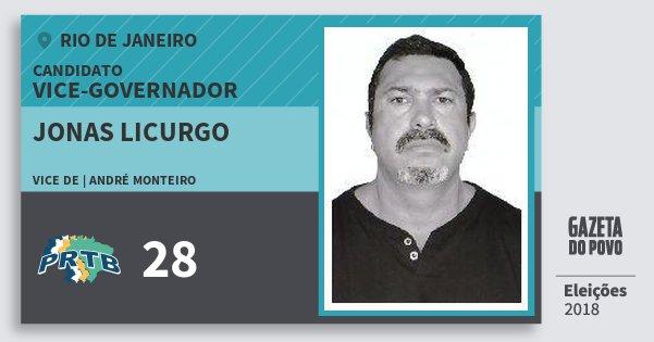 Santinho Jonas Licurgo 28 (PRTB) Vice-governador | Rio de Janeiro | Eleições 2018