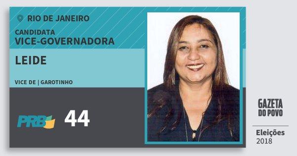 Santinho Leide 44 (PRB) Vice-Governadora | Rio de Janeiro | Eleições 2018