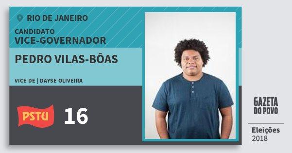 Santinho Pedro Vilas-Bôas 16 (PSTU) Vice-governador | Rio de Janeiro | Eleições 2018