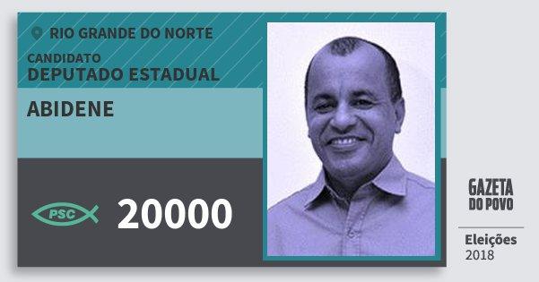 Santinho Abidene 20000 (PSC) Deputado Estadual | Rio Grande do Norte | Eleições 2018
