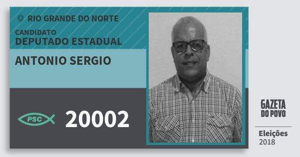 Santinho Antonio Sergio 20002 (PSC) Deputado Estadual | Rio Grande do Norte | Eleições 2018