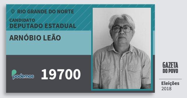 Santinho Arnóbio Leão 19700 (PODE) Deputado Estadual | Rio Grande do Norte | Eleições 2018