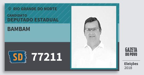 Santinho Bambam 77211 (SOLIDARIEDADE) Deputado Estadual | Rio Grande do Norte | Eleições 2018