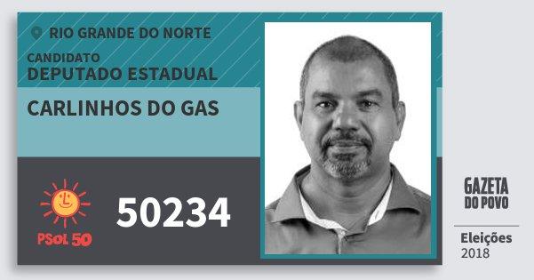 Santinho Carlinhos do Gas 50234 (PSOL) Deputado Estadual | Rio Grande do Norte | Eleições 2018