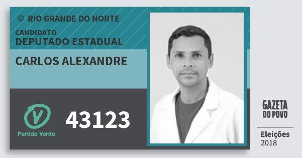 Santinho Carlos Alexandre 43123 (PV) Deputado Estadual | Rio Grande do Norte | Eleições 2018