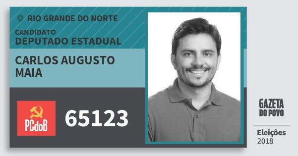 Santinho Carlos Augusto Maia 65123 (PC do B) Deputado Estadual | Rio Grande do Norte | Eleições 2018