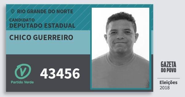 Santinho Chico Guerreiro 43456 (PV) Deputado Estadual | Rio Grande do Norte | Eleições 2018