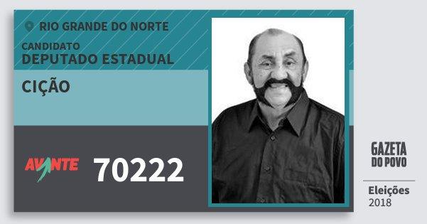 Santinho Cição 70222 (AVANTE) Deputado Estadual | Rio Grande do Norte | Eleições 2018