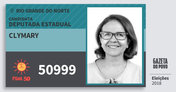 Santinho Clymary 50999 (PSOL) Deputada Estadual | Rio Grande do Norte | Eleições 2018