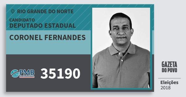 Santinho Coronel Fernandes 35190 (PMB) Deputado Estadual | Rio Grande do Norte | Eleições 2018