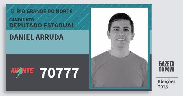 Santinho Daniel Arruda 70777 (AVANTE) Deputado Estadual | Rio Grande do Norte | Eleições 2018