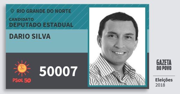 Santinho Dario Silva 50007 (PSOL) Deputado Estadual | Rio Grande do Norte | Eleições 2018