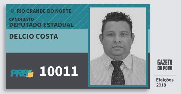 Santinho Delcio Costa 10011 (PRB) Deputado Estadual | Rio Grande do Norte | Eleições 2018
