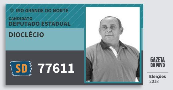 Santinho Dioclécio 77611 (SOLIDARIEDADE) Deputado Estadual | Rio Grande do Norte | Eleições 2018