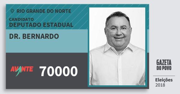 Santinho Dr. Bernardo 70000 (AVANTE) Deputado Estadual | Rio Grande do Norte | Eleições 2018