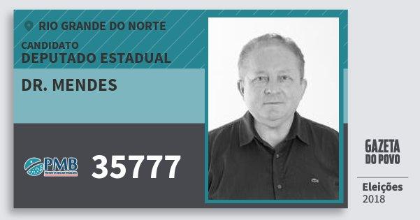 Santinho Dr. Mendes 35777 (PMB) Deputado Estadual | Rio Grande do Norte | Eleições 2018