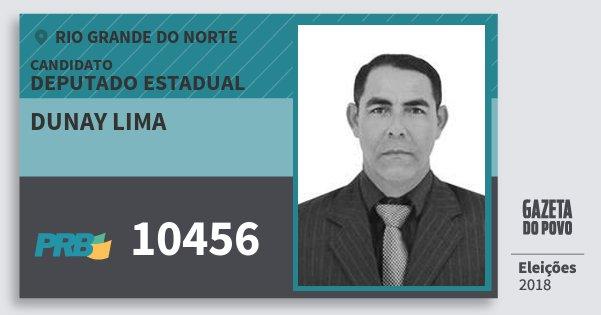 Santinho Dunay Lima 10456 (PRB) Deputado Estadual | Rio Grande do Norte | Eleições 2018