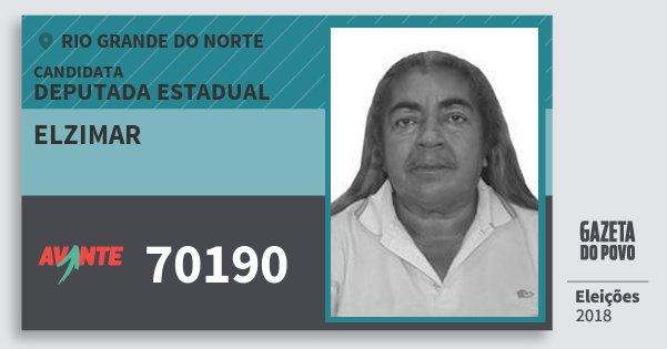 Santinho Elzimar 70190 (AVANTE) Deputada Estadual   Rio Grande do Norte   Eleições 2018