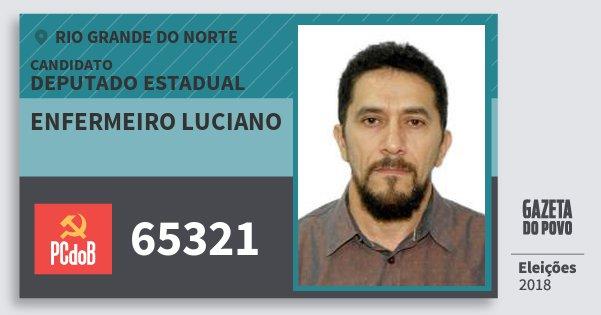 Santinho Enfermeiro Luciano 65321 (PC do B) Deputado Estadual | Rio Grande do Norte | Eleições 2018