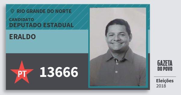 Santinho Eraldo 13666 (PT) Deputado Estadual | Rio Grande do Norte | Eleições 2018