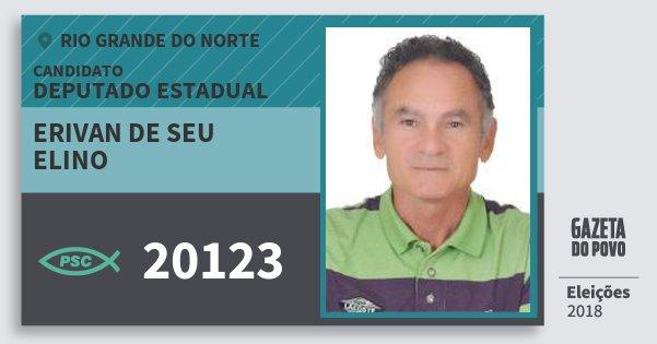 Santinho Erivan de Seu Elino 20123 (PSC) Deputado Estadual | Rio Grande do Norte | Eleições 2018