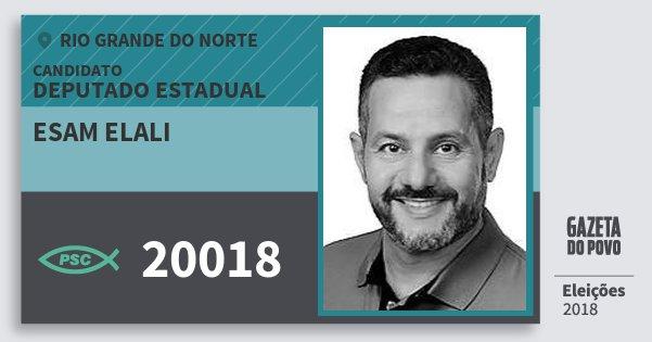 Santinho Esam Elali 20018 (PSC) Deputado Estadual | Rio Grande do Norte | Eleições 2018