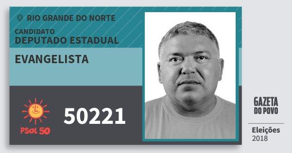 Santinho Evangelista 50221 (PSOL) Deputado Estadual | Rio Grande do Norte | Eleições 2018