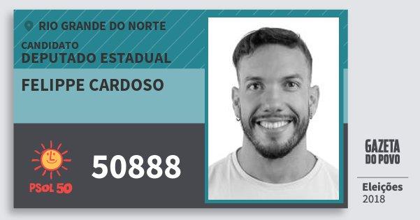 Santinho Felippe Cardoso 50888 (PSOL) Deputado Estadual | Rio Grande do Norte | Eleições 2018