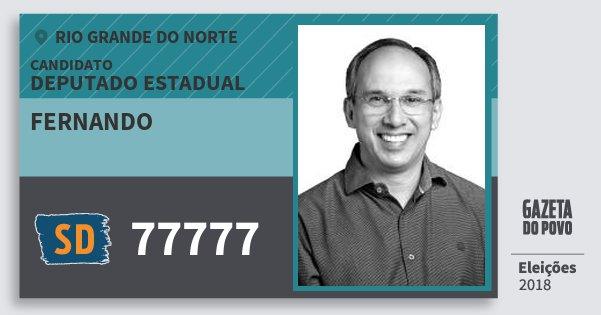 Santinho Fernando 77777 (SOLIDARIEDADE) Deputado Estadual | Rio Grande do Norte | Eleições 2018