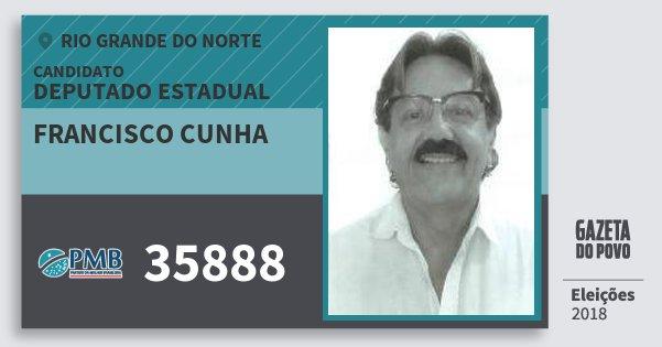 Santinho Francisco Cunha 35888 (PMB) Deputado Estadual | Rio Grande do Norte | Eleições 2018