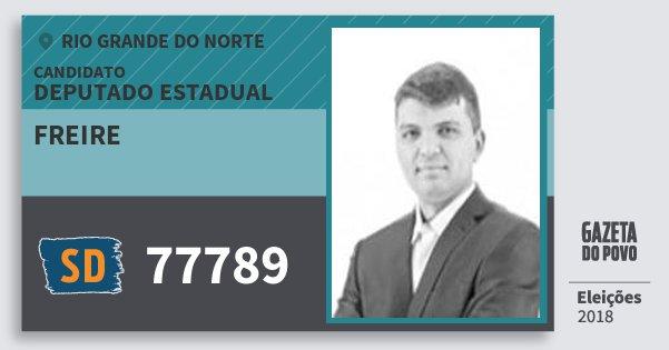 Santinho Freire 77789 (SOLIDARIEDADE) Deputado Estadual | Rio Grande do Norte | Eleições 2018