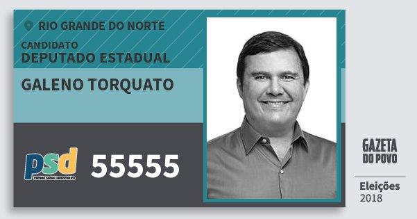 Santinho Galeno Torquato 55555 (PSD) Deputado Estadual | Rio Grande do Norte | Eleições 2018