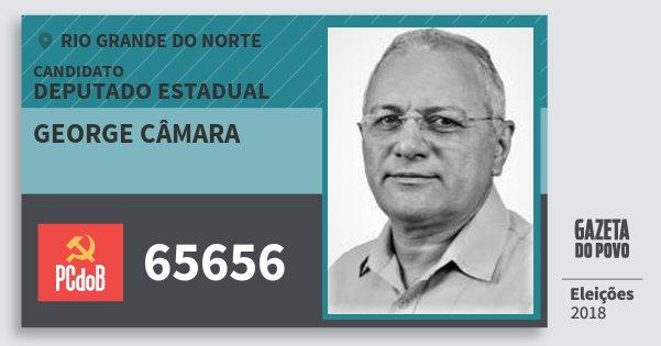 Santinho George Câmara 65656 (PC do B) Deputado Estadual | Rio Grande do Norte | Eleições 2018