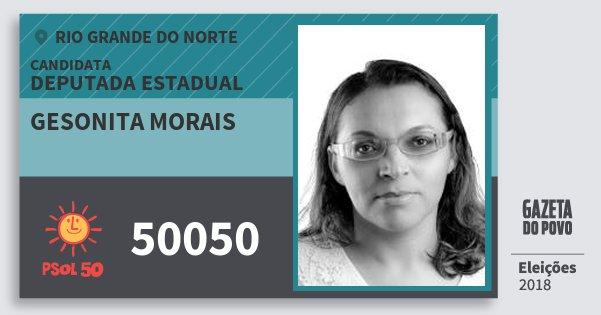 Santinho Gesonita Morais 50050 (PSOL) Deputada Estadual | Rio Grande do Norte | Eleições 2018