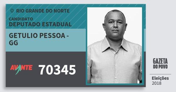 Santinho Getulio Pessoa - Gg 70345 (AVANTE) Deputado Estadual | Rio Grande do Norte | Eleições 2018