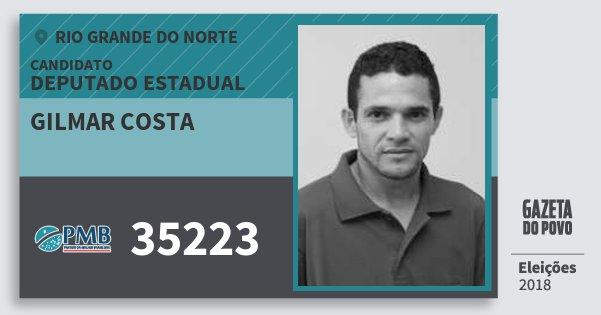Santinho Gilmar Costa 35223 (PMB) Deputado Estadual | Rio Grande do Norte | Eleições 2018