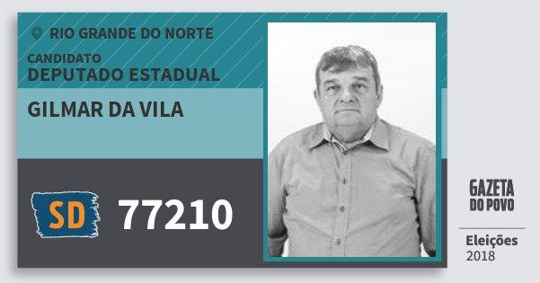 Santinho Gilmar da Vila 77210 (SOLIDARIEDADE) Deputado Estadual | Rio Grande do Norte | Eleições 2018