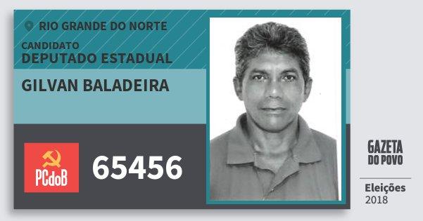 Santinho Gilvan Baladeira 65456 (PC do B) Deputado Estadual | Rio Grande do Norte | Eleições 2018