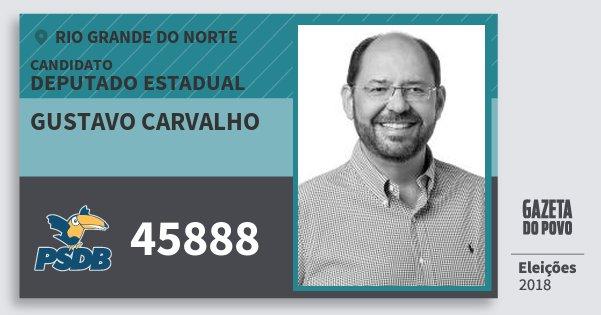 Santinho Gustavo Carvalho 45888 (PSDB) Deputado Estadual | Rio Grande do Norte | Eleições 2018