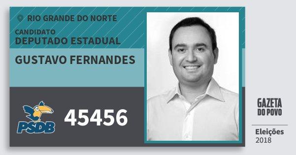 Santinho Gustavo Fernandes 45456 (PSDB) Deputado Estadual | Rio Grande do Norte | Eleições 2018