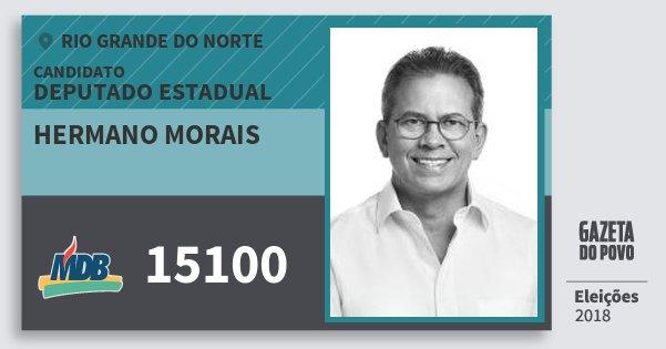 Santinho Hermano Morais 15100 (MDB) Deputado Estadual | Rio Grande do Norte | Eleições 2018