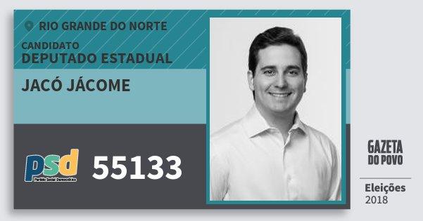 Santinho Jacó Jácome 55133 (PSD) Deputado Estadual | Rio Grande do Norte | Eleições 2018