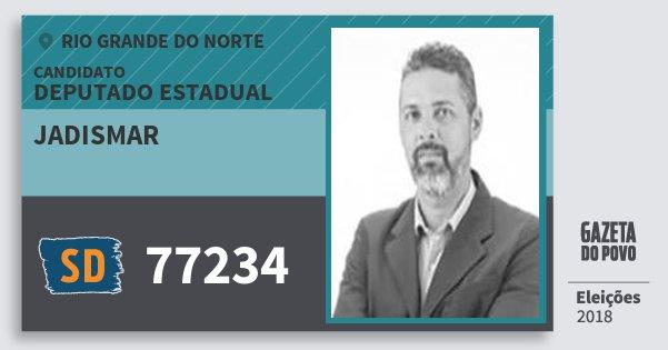 Santinho Jadismar 77234 (SOLIDARIEDADE) Deputado Estadual | Rio Grande do Norte | Eleições 2018