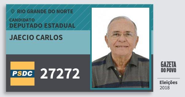 Santinho Jaecio Carlos 27272 (DC) Deputado Estadual | Rio Grande do Norte | Eleições 2018