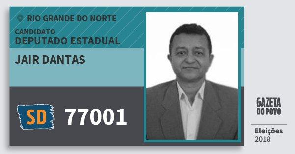 Santinho Jair Dantas 77001 (SOLIDARIEDADE) Deputado Estadual | Rio Grande do Norte | Eleições 2018