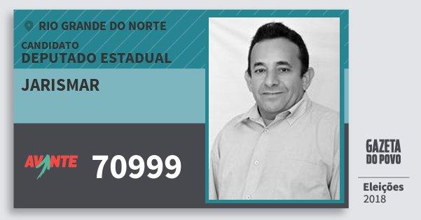 Santinho Jarismar 70999 (AVANTE) Deputado Estadual | Rio Grande do Norte | Eleições 2018