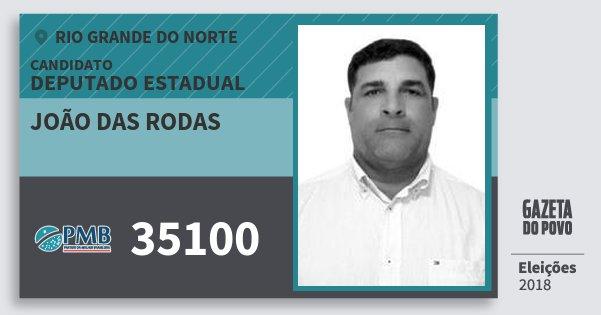 Santinho João das Rodas 35100 (PMB) Deputado Estadual | Rio Grande do Norte | Eleições 2018